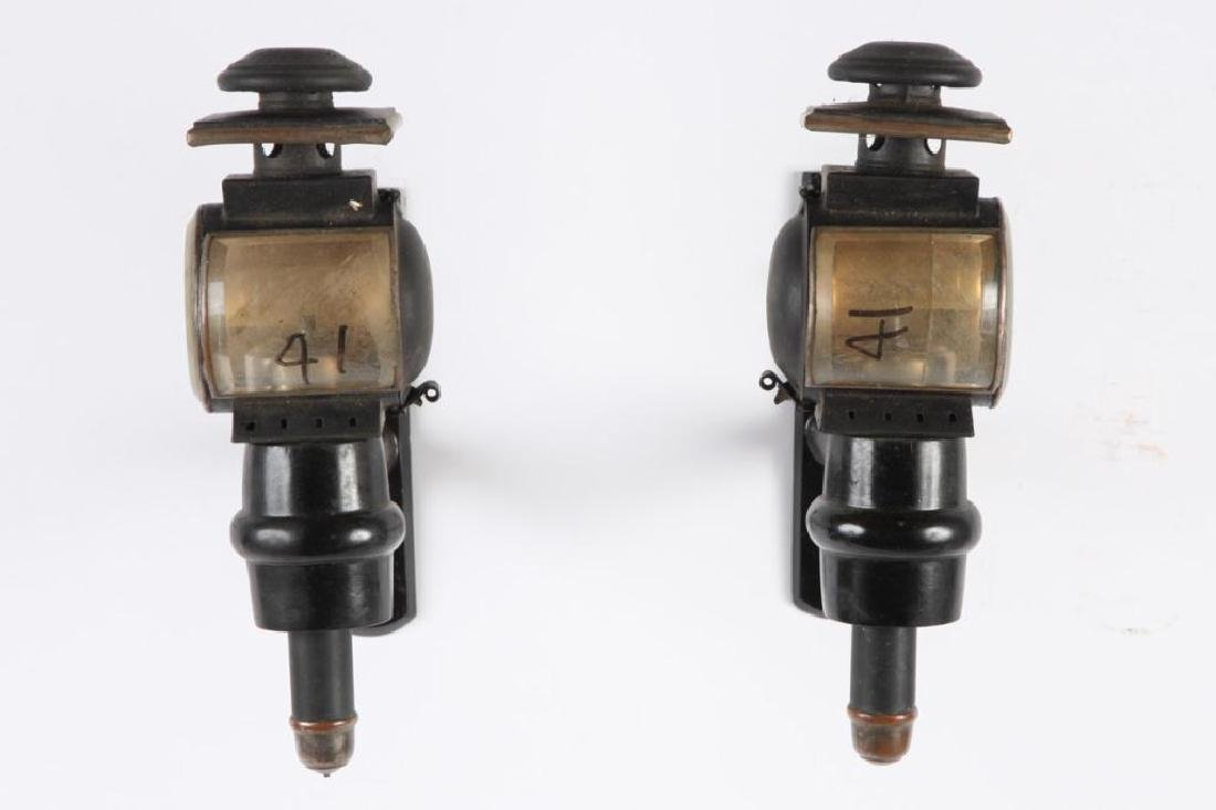 PAIR OF MEDIUM PONY CARRIAGE LAMPS - 3