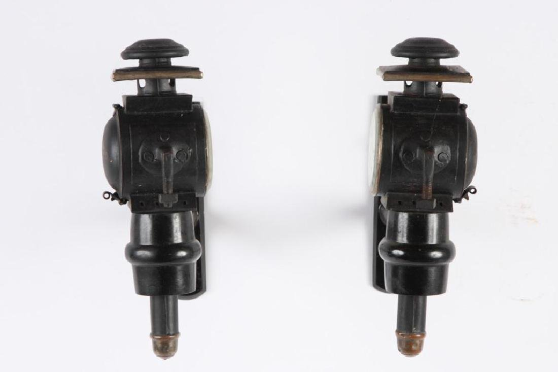 PAIR OF MEDIUM PONY CARRIAGE LAMPS - 4