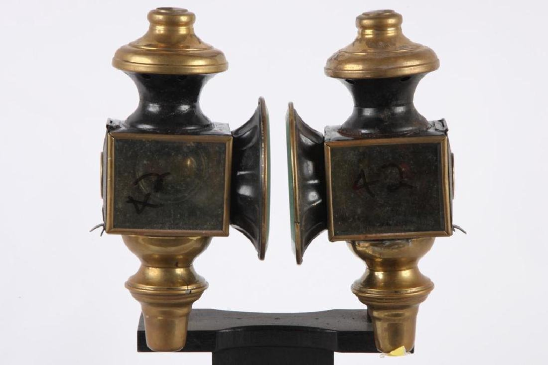 PAIR OF BUGGY LAMPS - 4
