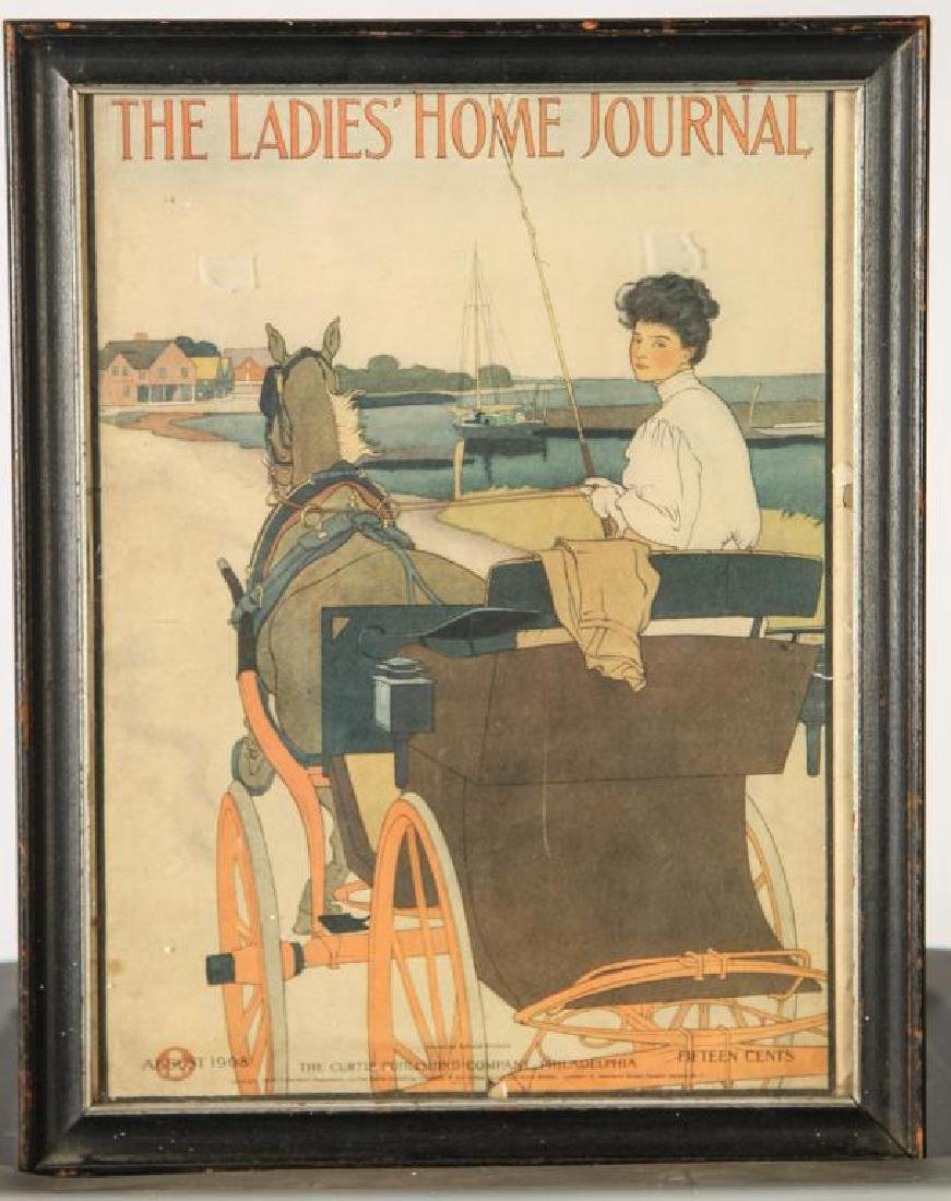 (4) COACHING PRINTS FROM HARPERS & (1) LADIES HOME - 3