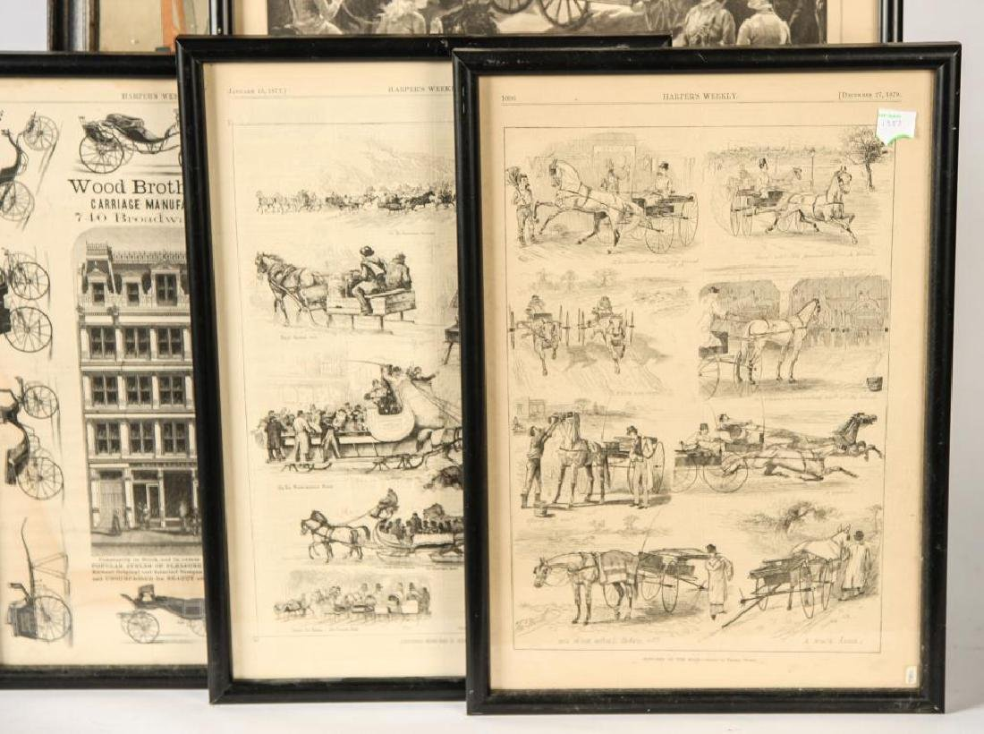 (4) COACHING PRINTS FROM HARPERS & (1) LADIES HOME - 4