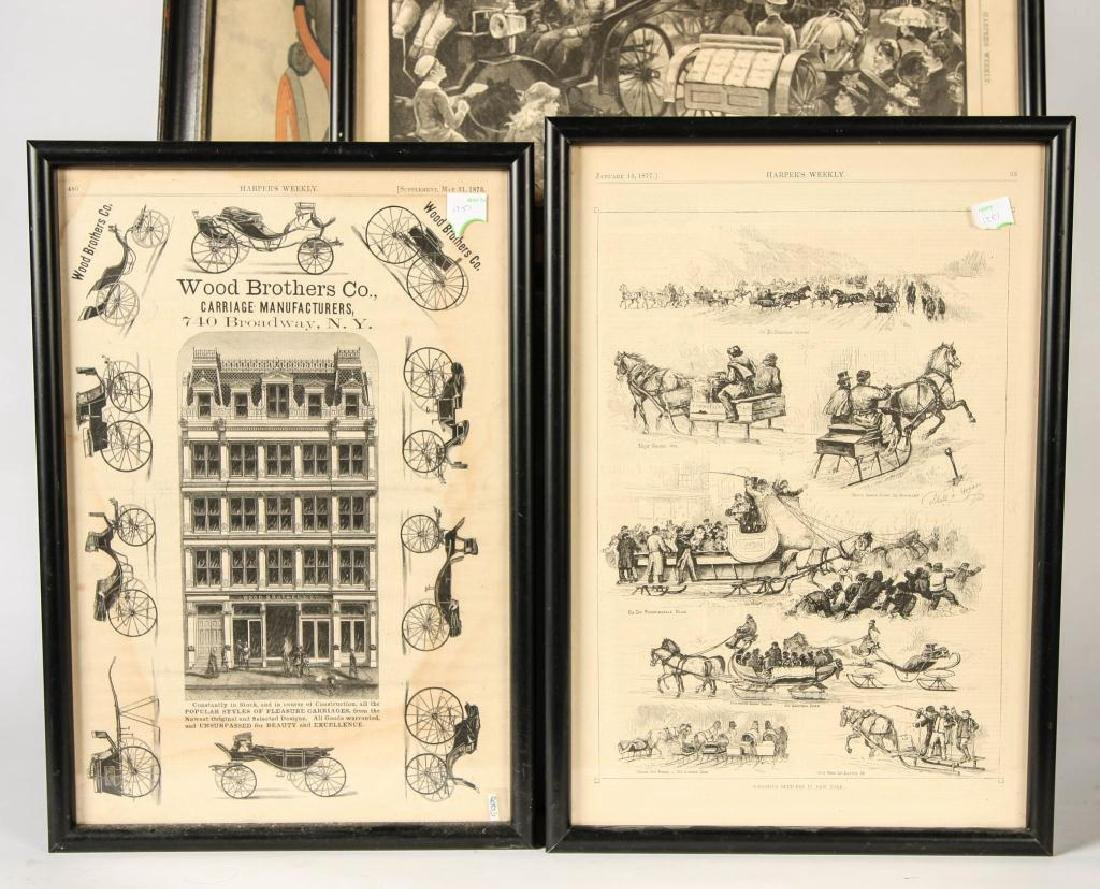 (4) COACHING PRINTS FROM HARPERS & (1) LADIES HOME - 5