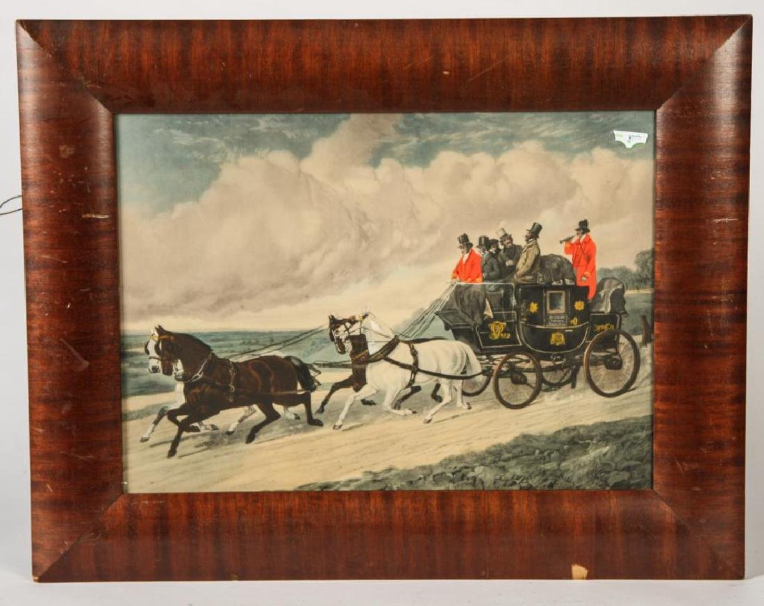 (3) BRIGHT (19th c) COACHING -CARRIAGE LITHOGRAPHS - 2