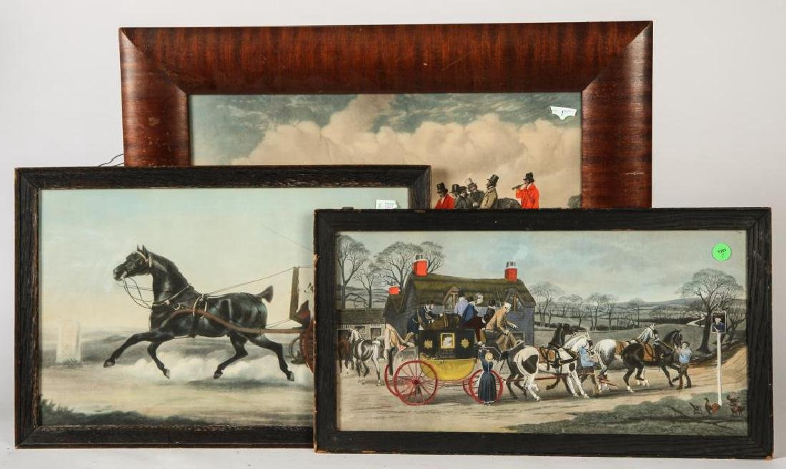 (3) BRIGHT (19th c) COACHING -CARRIAGE LITHOGRAPHS - 4