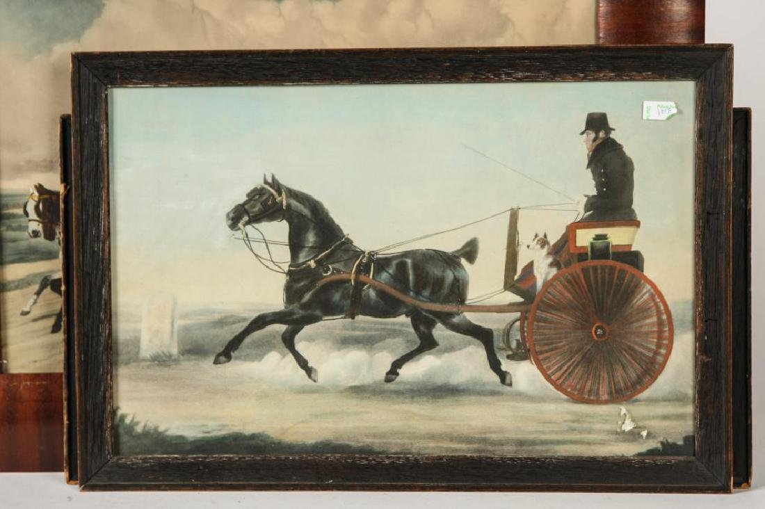 (3) BRIGHT (19th c) COACHING -CARRIAGE LITHOGRAPHS - 6
