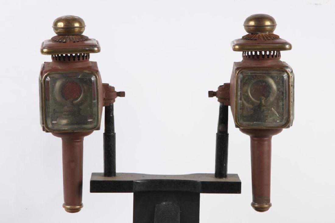 PAIR OF FANCY PONY LAMPS