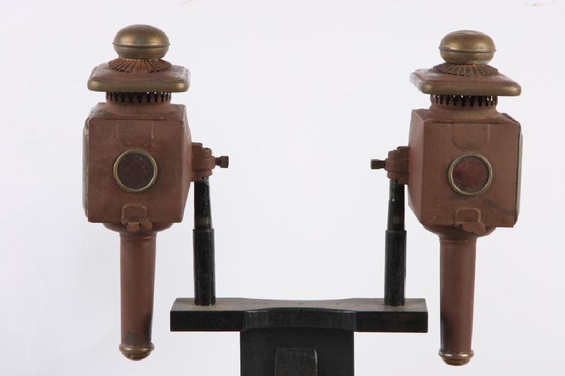 PAIR OF FANCY PONY LAMPS - 3
