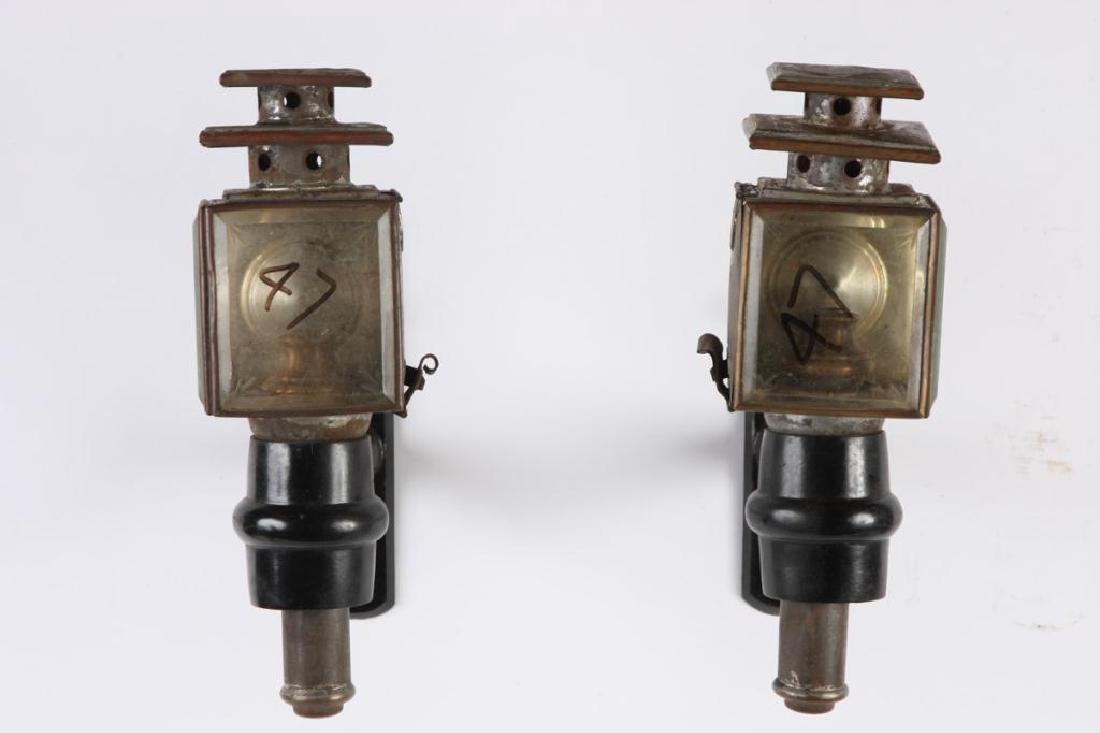 PAIR OF LARGE PONY LAMPS