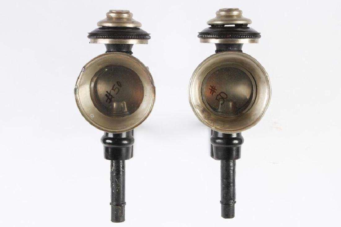 PAIR OF MEDIUM SPORTY CANDLE CARRIAGE LAMPS