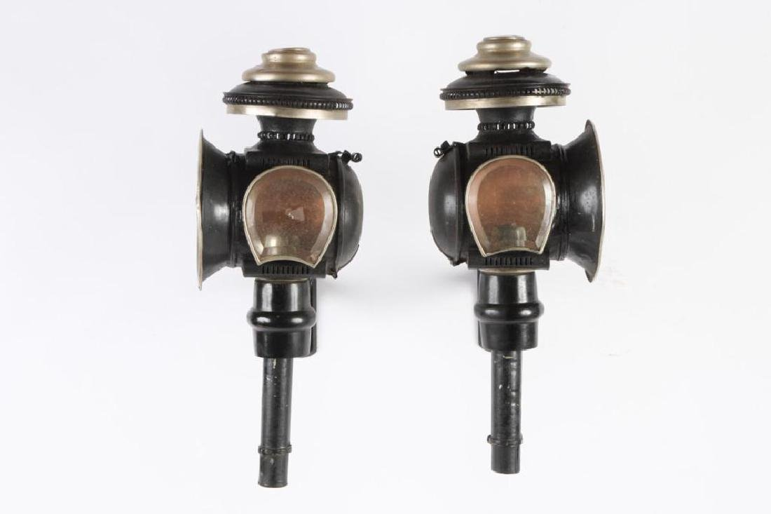 PAIR OF MEDIUM SPORTY CANDLE CARRIAGE LAMPS - 4