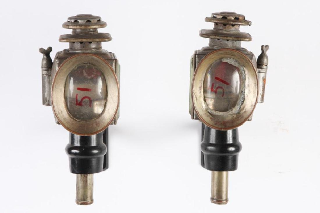 PAIR OF SPORTY CHAUNCEY-THOMAS CARRIAGE LAMPS