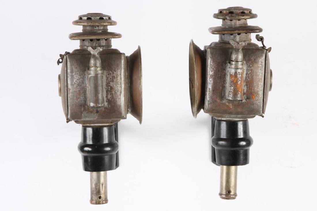 PAIR OF SPORTY CHAUNCEY-THOMAS CARRIAGE LAMPS - 3