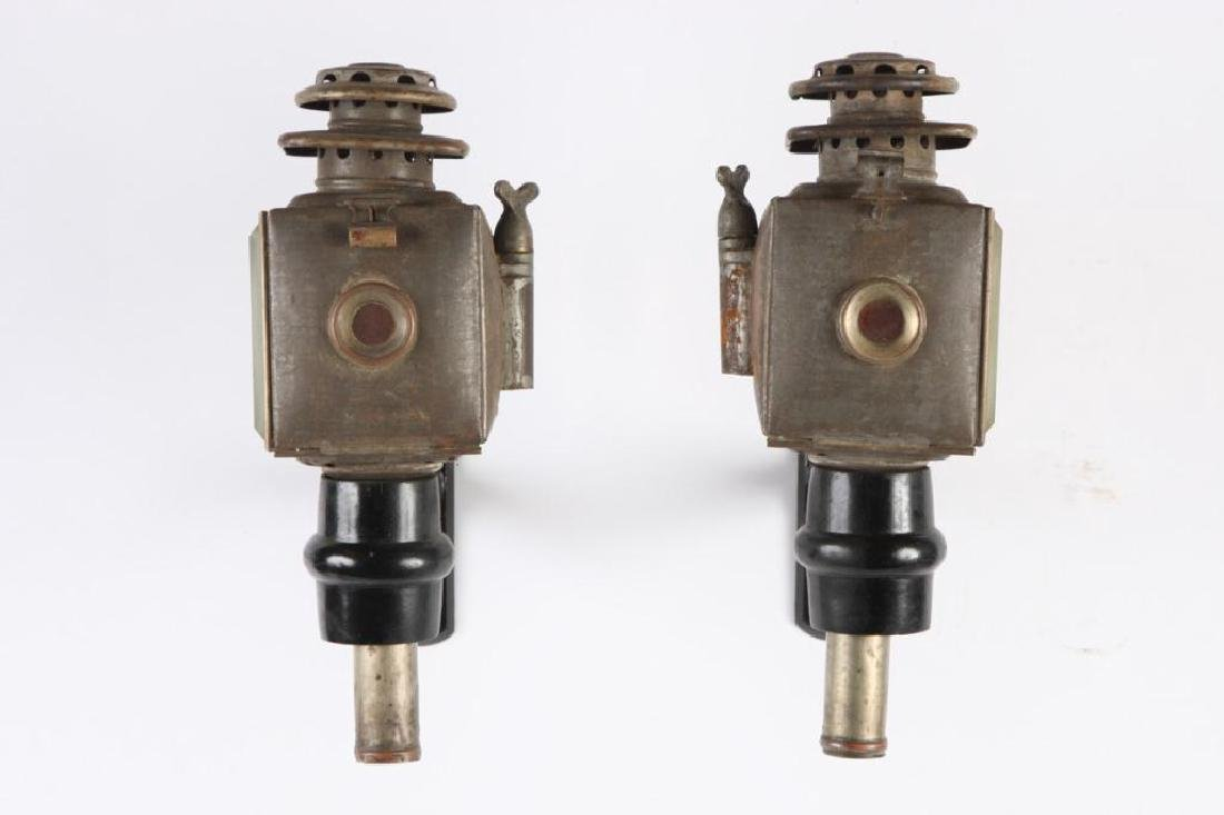 PAIR OF SPORTY CHAUNCEY-THOMAS CARRIAGE LAMPS - 4