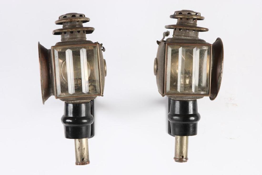 PAIR OF SPORTY CHAUNCEY-THOMAS CARRIAGE LAMPS - 5