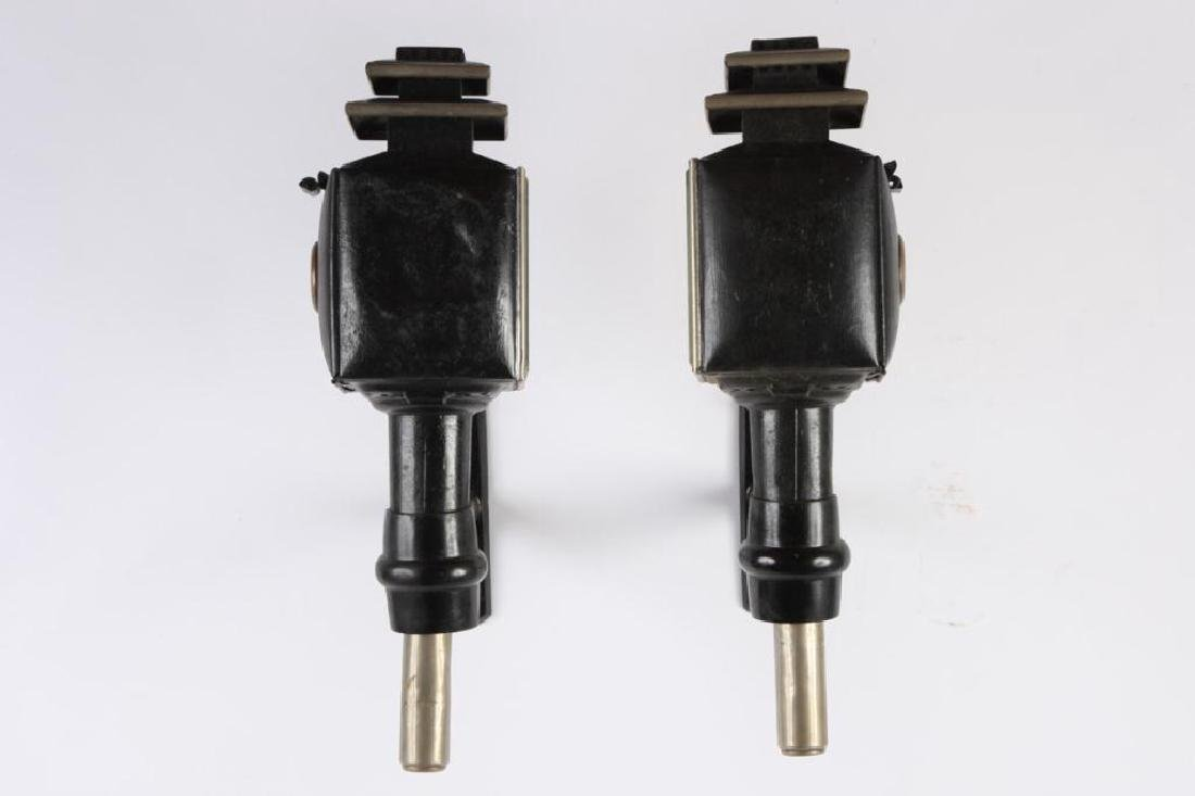 PAIR OF ENGLISH STYLE SQUARE CARRIAGE LAMPS - 4