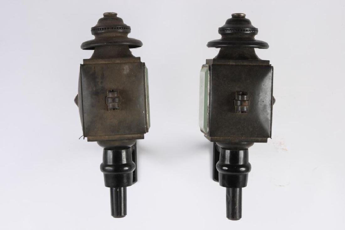 PAIR OF SQUARE CARRIAGE LAMPS - 4