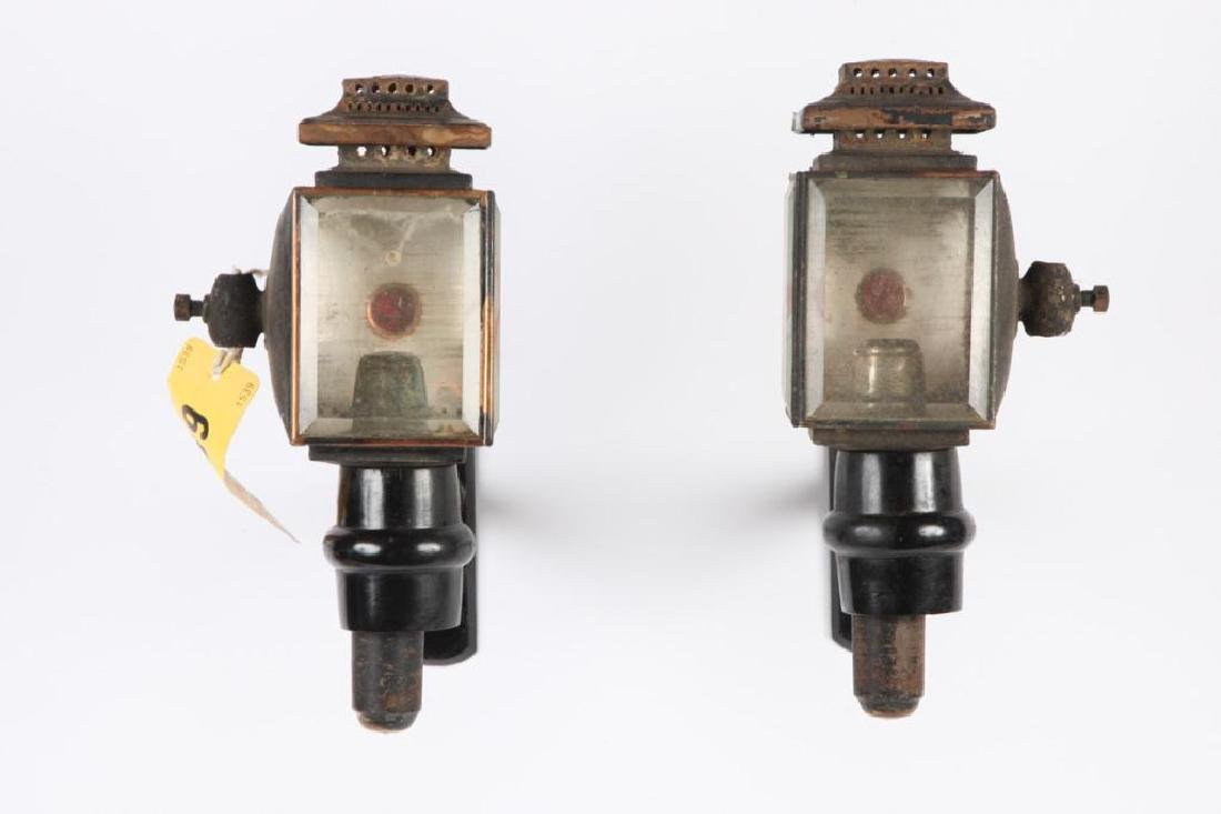 SMALL PAIR OF CANDLE CARRIAGE LAMPS - 3