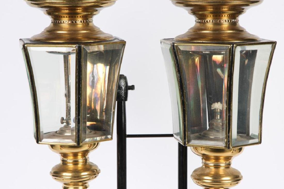 PAIR OF RESTORED HEARSE CARRIAGE LAMPS - 4