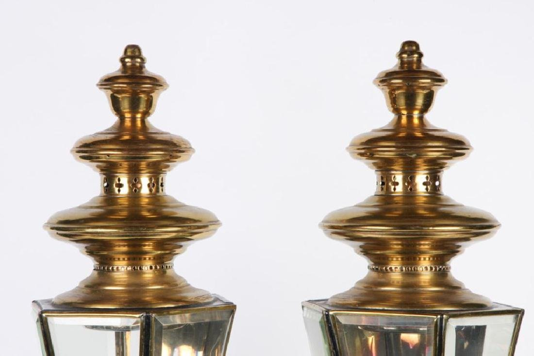PAIR OF RESTORED HEARSE CARRIAGE LAMPS - 5
