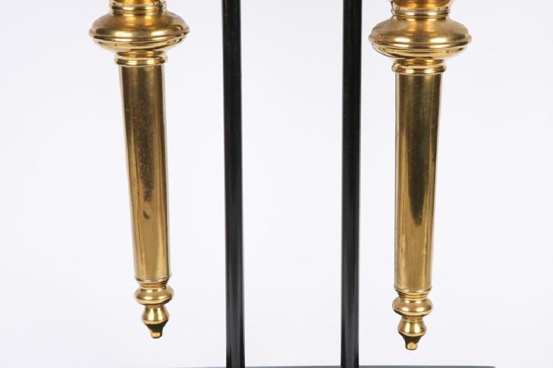 PAIR OF RESTORED HEARSE CARRIAGE LAMPS - 6