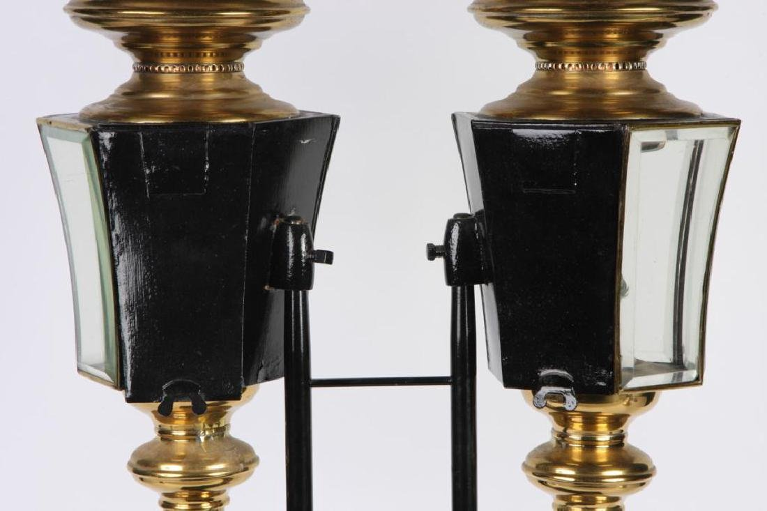 PAIR OF RESTORED HEARSE CARRIAGE LAMPS - 8