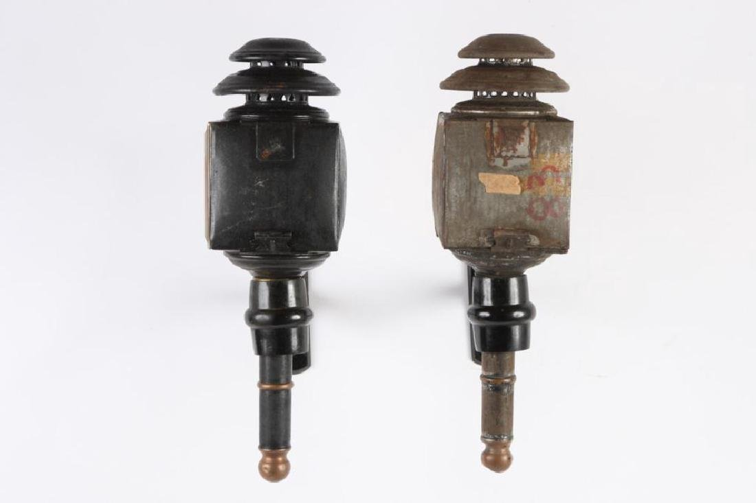 PAIR OF CANDLE CARRIAGE LAMPS - 2