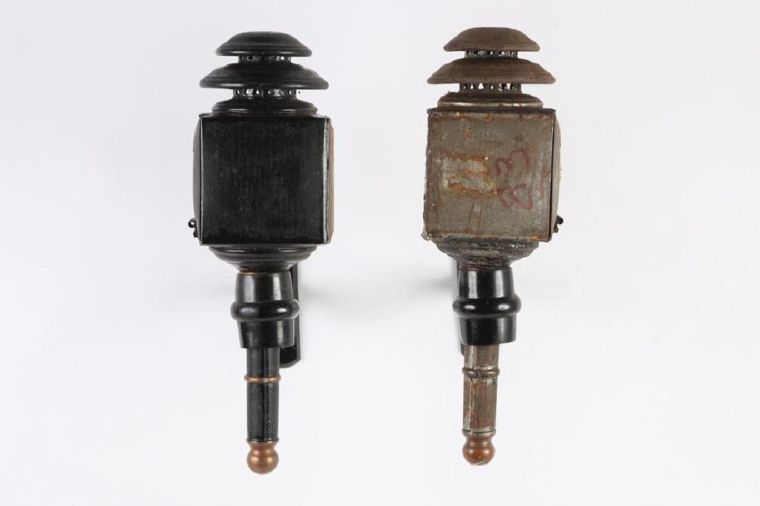 PAIR OF CANDLE CARRIAGE LAMPS - 3
