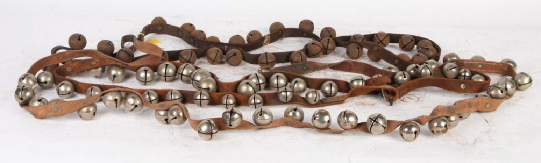 (3) BELTS OF STEEL SLEIGH BELLS