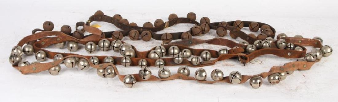(3) BELTS OF STEEL SLEIGH BELLS