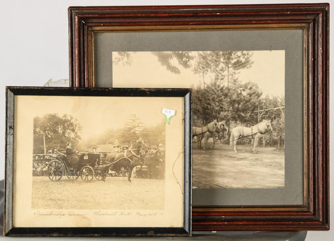 (2) EQUESTRIAN PHOTOGRAPHS EARLY (20th c)