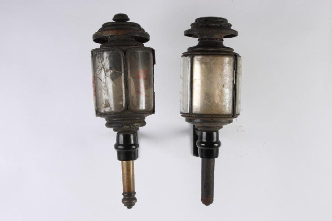 CUNNINGHAM MED HEARSE & (2) TUBULAR CARRIAGE LAMPS - 4