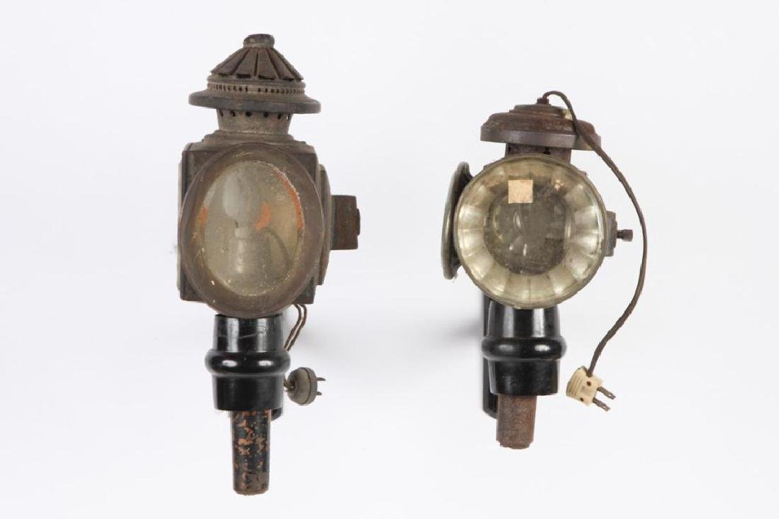 (3) ELECTRIFIED CARRIAGE LAMPS