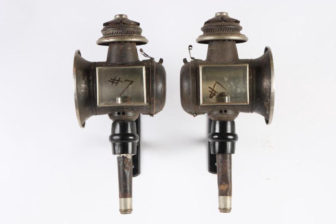 PAIR OF ENGLISH STYLE CARRIAGE LAMPS - 4