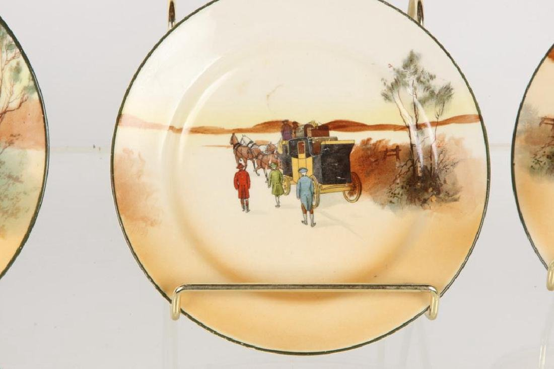 (13) ROYAL DOULTON PLATES WITH COACHING SCENES - 2