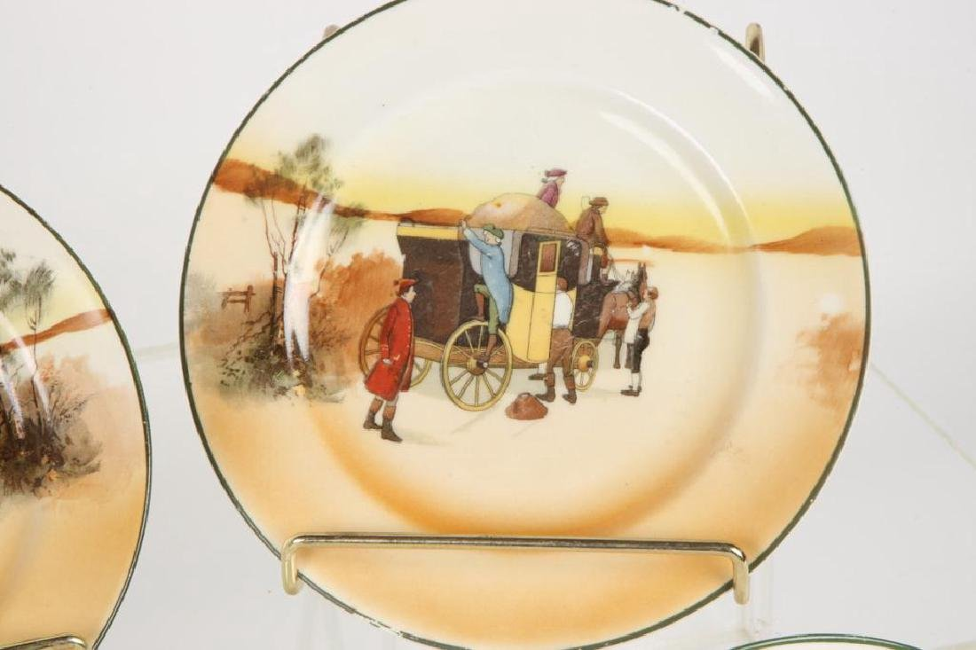 (13) ROYAL DOULTON PLATES WITH COACHING SCENES - 3