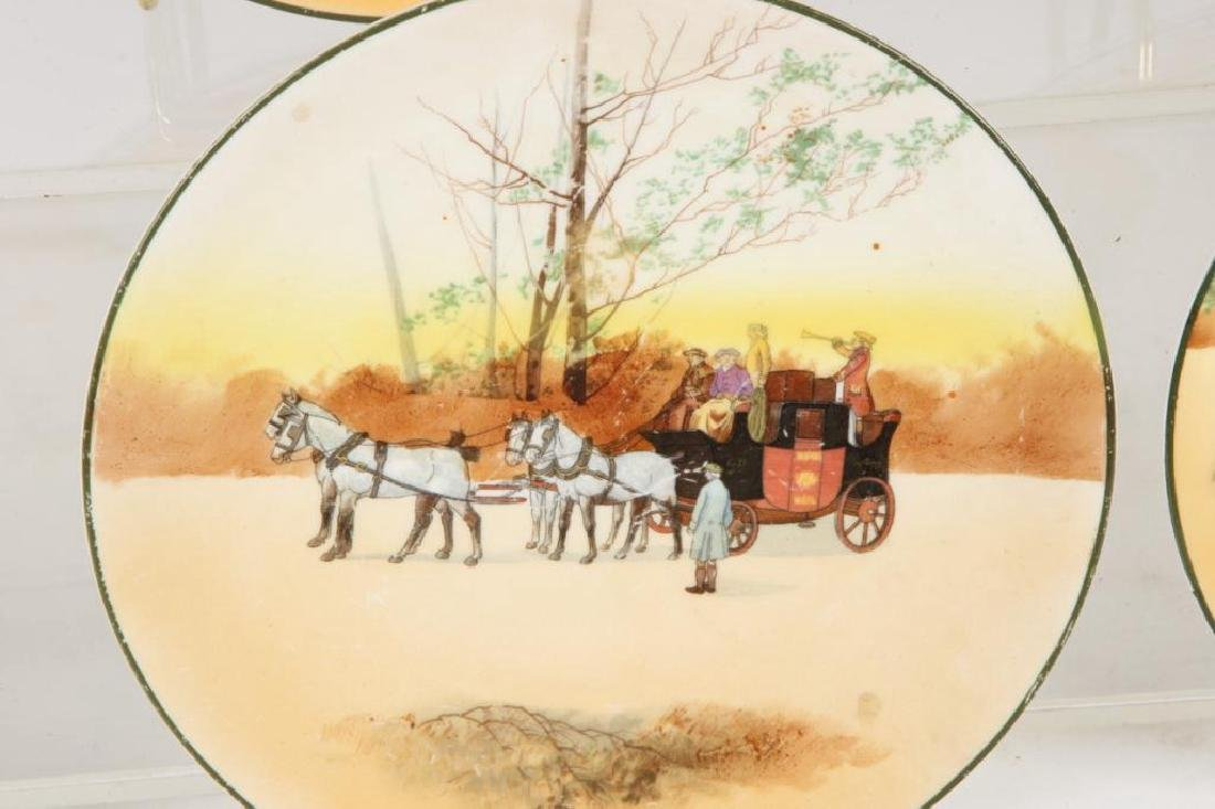 (13) ROYAL DOULTON PLATES WITH COACHING SCENES - 4