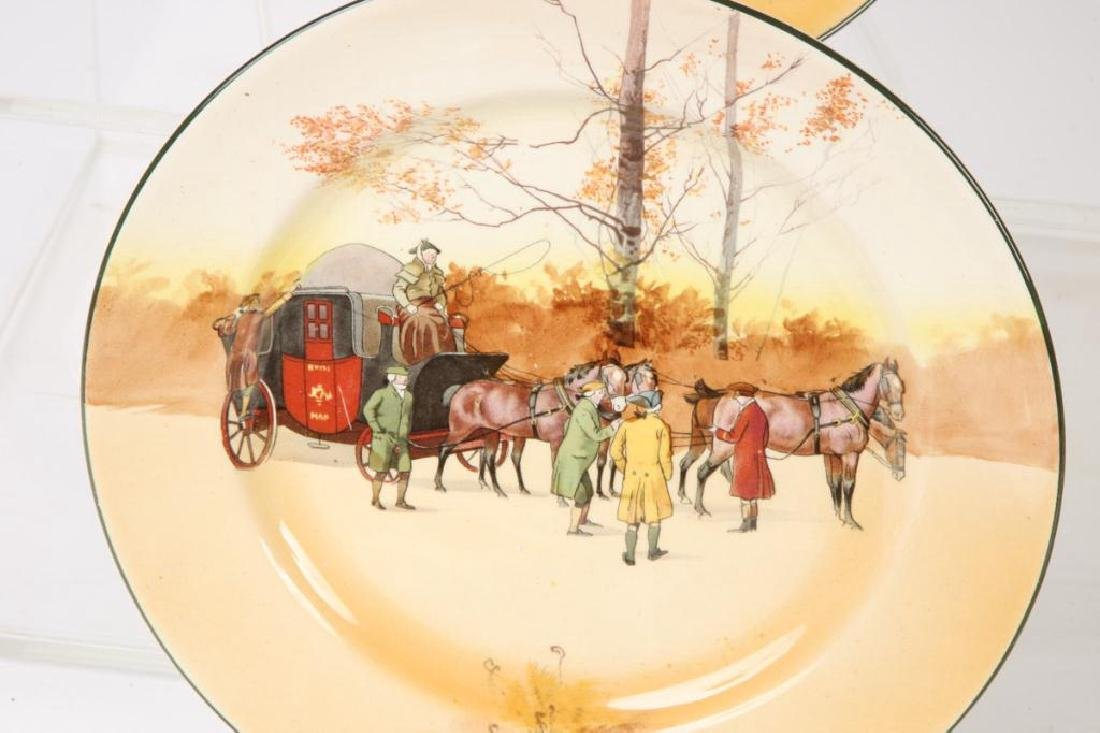 (13) ROYAL DOULTON PLATES WITH COACHING SCENES - 5