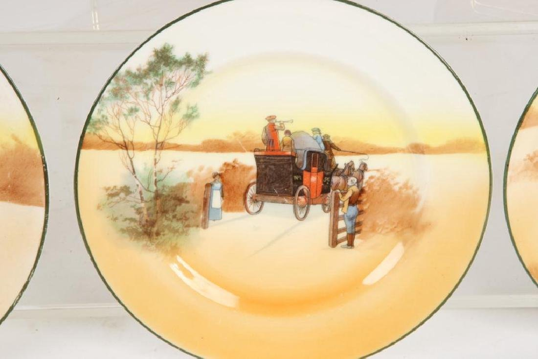 (13) ROYAL DOULTON PLATES WITH COACHING SCENES - 6