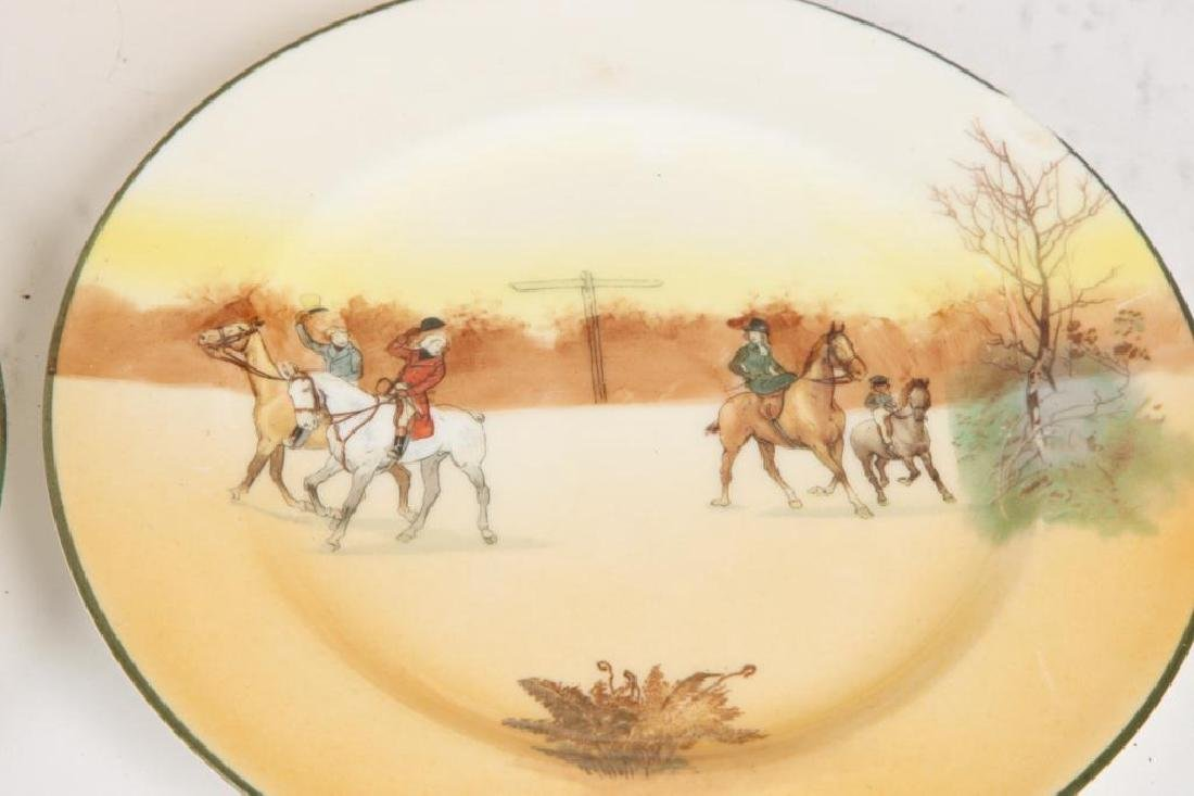 (13) ROYAL DOULTON PLATES WITH COACHING SCENES - 7