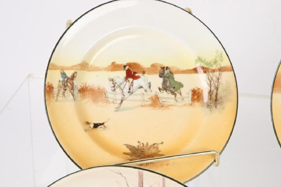 (13) ROYAL DOULTON PLATES WITH COACHING SCENES - 8