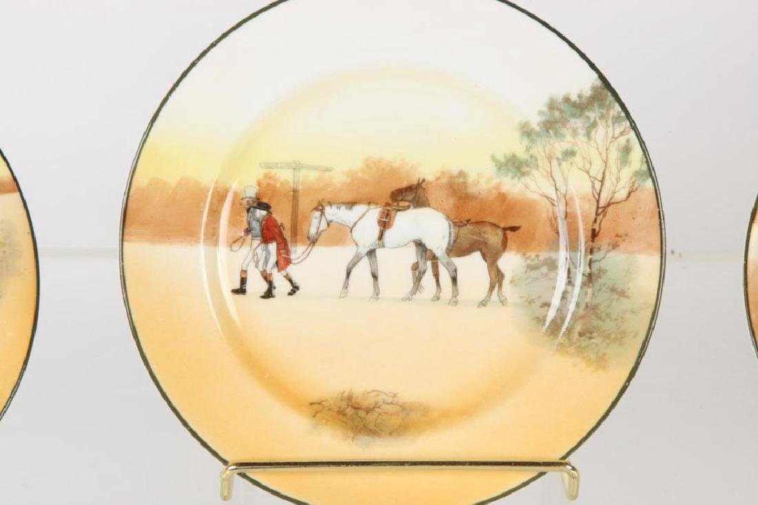(13) ROYAL DOULTON PLATES WITH COACHING SCENES - 9