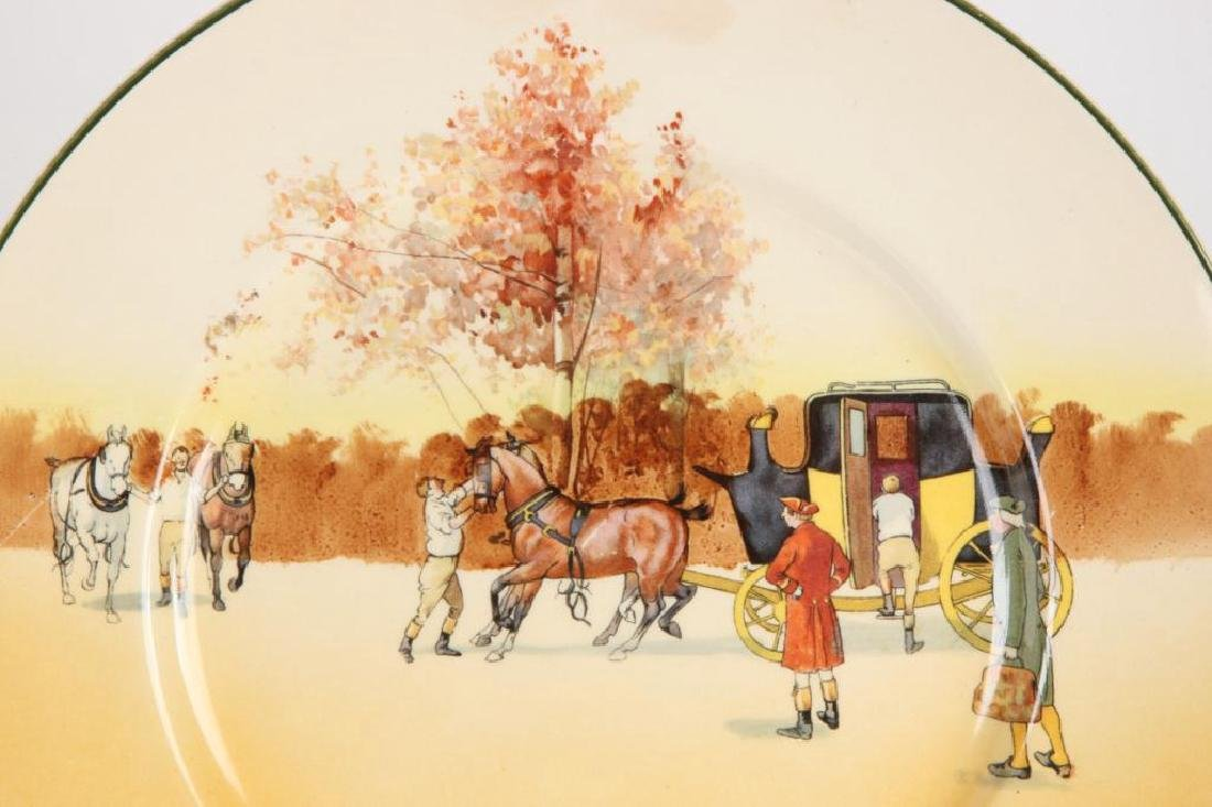 (14) ROYAL DOULTON PLATES WITH COACHING SCENES - 2