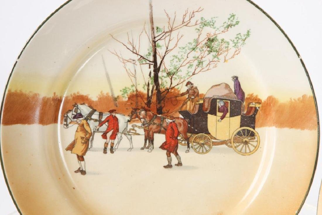 (14) ROYAL DOULTON PLATES WITH COACHING SCENES - 4