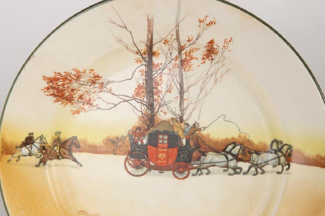 (14) ROYAL DOULTON PLATES WITH COACHING SCENES - 5