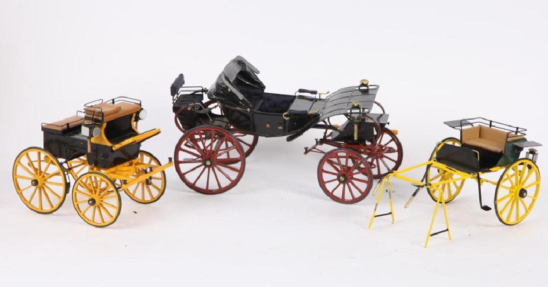 (3) MINIATURE CARRIAGES