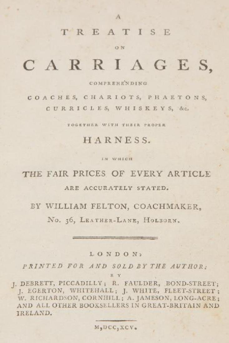 18th c FELTON ON CARRIAGES & TREATISE ON CARRIAGES - 3