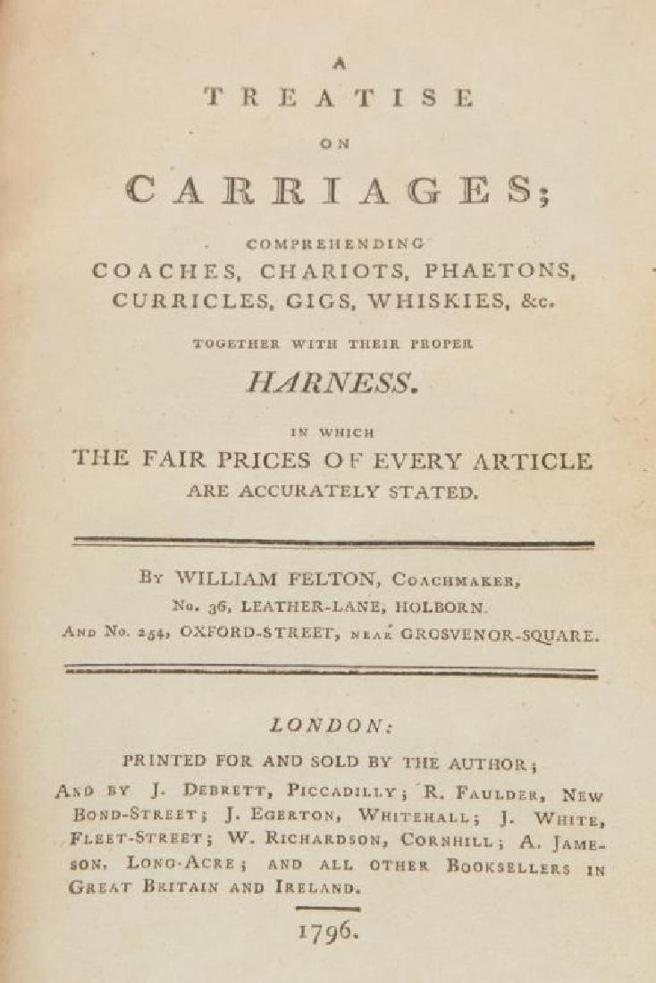 18th c FELTON ON CARRIAGES & TREATISE ON CARRIAGES - 6