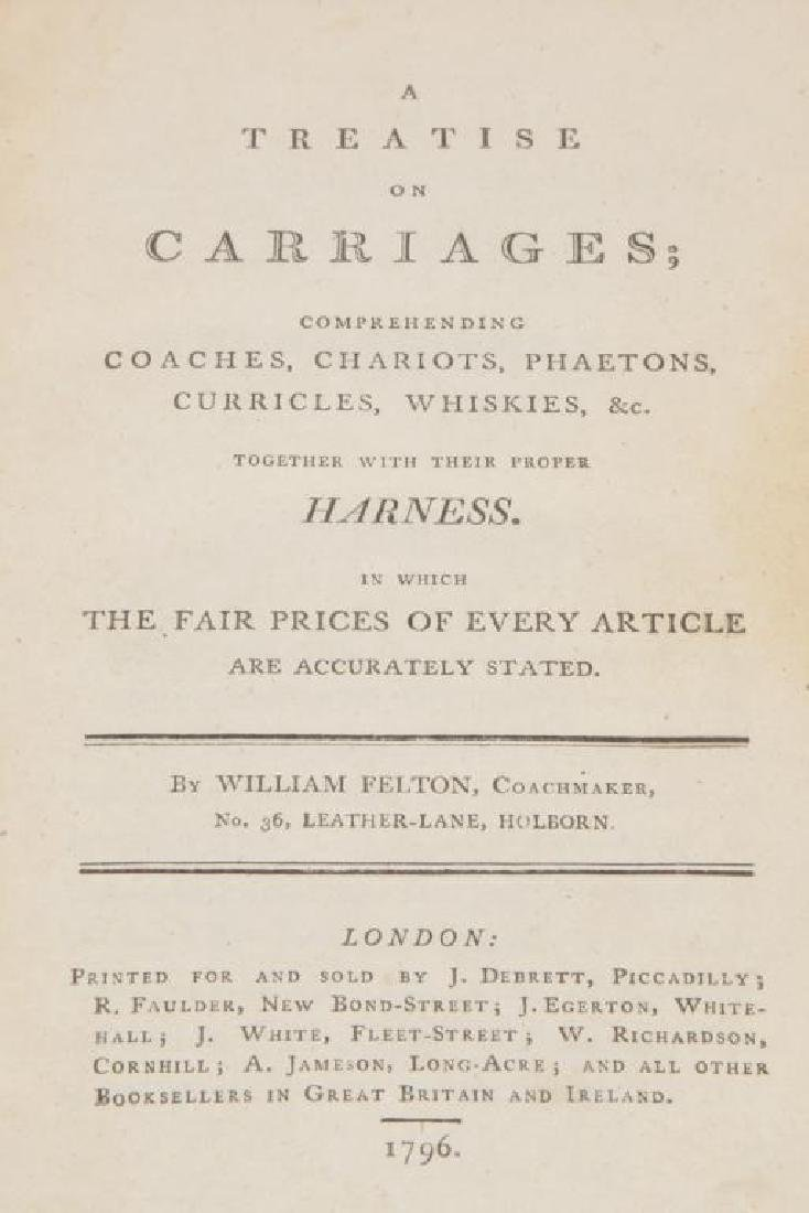 18th c FELTON ON CARRIAGES & TREATISE ON CARRIAGES - 7