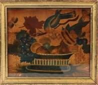 19TH C AMERICAN FOLK ART THEOREM STILL LIFE