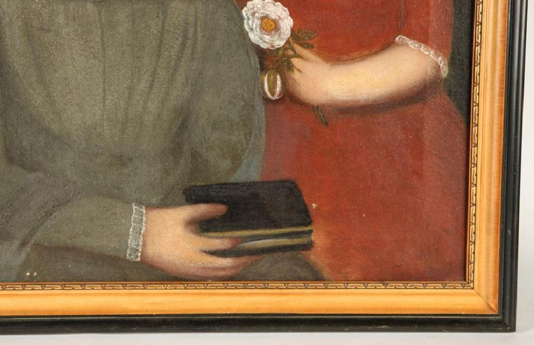 MANNER OF BELKNAP FOLK ART DOUBLE PORTRAIT - 4